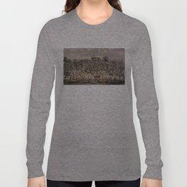 Vintage Pictorial Map of Sacramento (1850) Long Sleeve T-shirt
