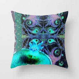 Armenian motifs/oldie/pomegranate Throw Pillow