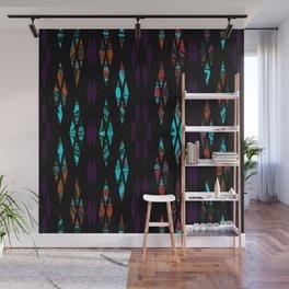 Purple Pattern Wall Mural