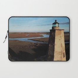 Old Baldy Lighthouse | Drone Photo | Bald Head Island, NC Laptop Sleeve
