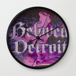 Beloved Detroit Spirit Wall Clock