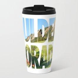 Boulder Colorado Travel Mug