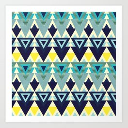 Geometric chic Art Print