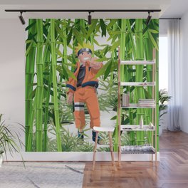Hero anime in the bamboo forest Wall Mural