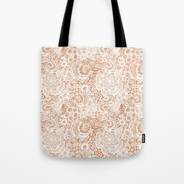 Gingerbread Lace with doves and flowers Tote Bag