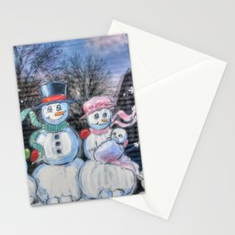 Snowman Family Stationery Cards