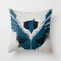 infamous Throw Pillows featuring inFamous Second Son Good Karma 1 by Kyrsten Carlson