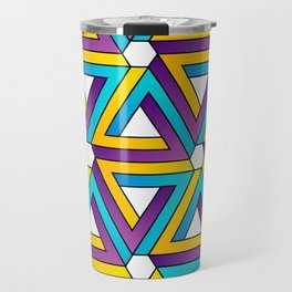 The Penrose triangle optical illusion Travel Mug