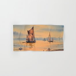 Thames Barges At Greenwich London Hand & Bath Towel