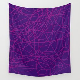 Violet Scribble Wall Tapestry