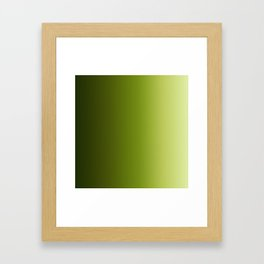 Ombre Greens Reversed 1 Framed Art Print