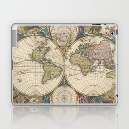 Vintage Map of The World (1690) Laptop & iPad Skin