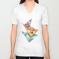rush V-neck T-shirts featuring Triangle Rush! by Hungry Design