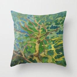 Dancing Tree Throw Pillow