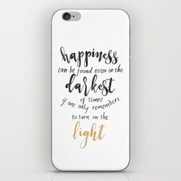 Dumbledore Quote | Happiness can be found... | Watercolor iPhone Skin