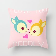 Deerly Throw Pillow