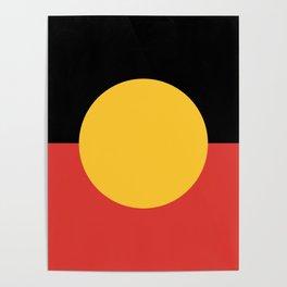 Australian Aboriginal Flag Poster