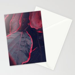 Sensual Red & Dark Purple Leaves Abstract Photography Patterns In Nature Stationery Cards