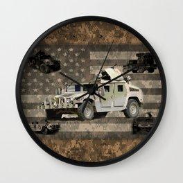 Humvee Military Vehicle Wall Clock
