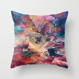 Glitch like that Throw Pillow