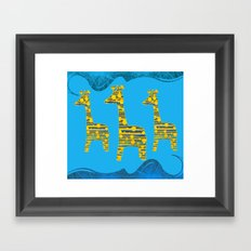 Giraffe Abstract Framed Art Print