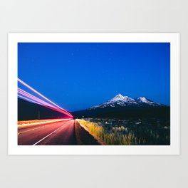 Mount Shasta at twilight Art Print