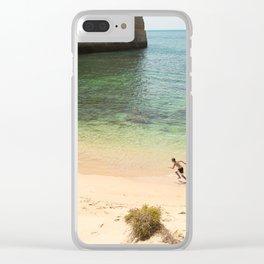 Run on the beach Clear iPhone Case