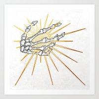 Skeleton Hand Inktober :: Dreadful Fairy Tales Art Print