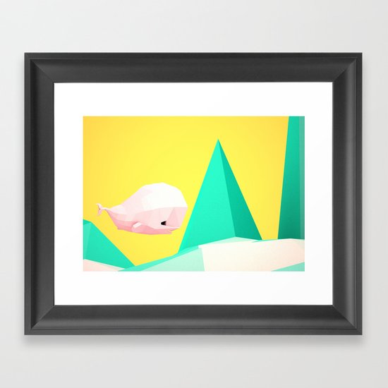 {W} Framed Art Print