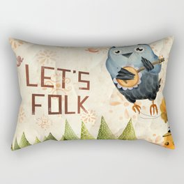 Let's Folk! Rectangular Pillow