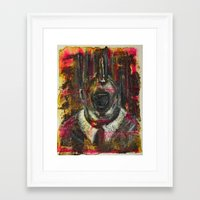 bacon Framed Art Prints featuring Bacon by Jose Luis