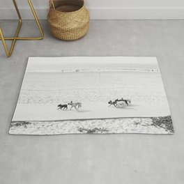 Puppy Traffic, French Bulldogs, Frenchie Art, French Bulldog Gifts Rug