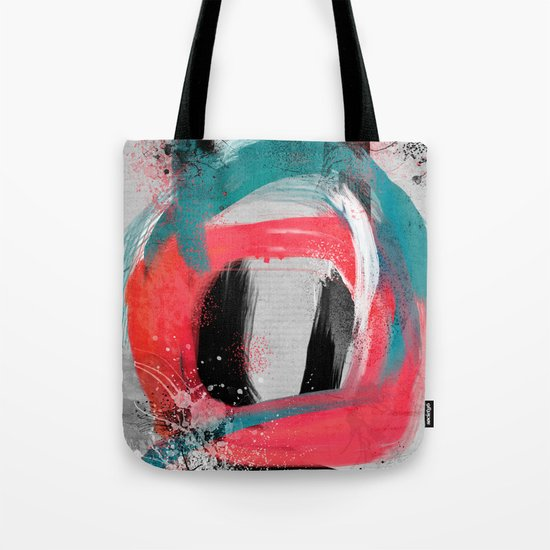 blue meets pink on a cloudy day Tote Bag