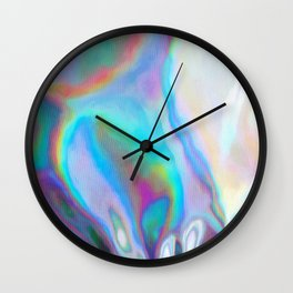Iridescence 2 - Rainbow Abstract Wall Clock