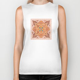 Brown Mandala 02 Biker Tank