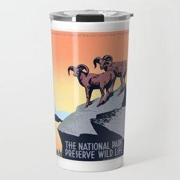 1936 The National Parks Preserve Wild Life Poster Travel Mug