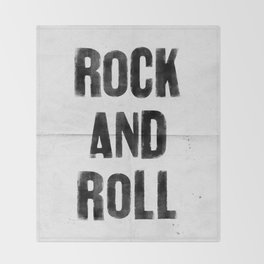 ROCK AND ROLL Throw Blanket