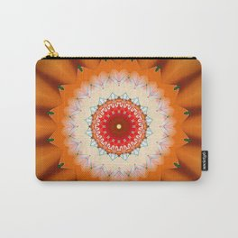 Bright Orange Star Mandala Carry-All Pouch