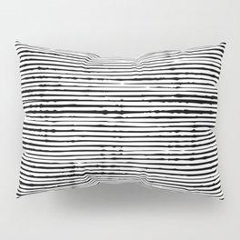 Boho, Striped Mudcloth, Black and White Pillow Sham