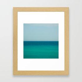 Sea & Sky abstract Framed Art Print