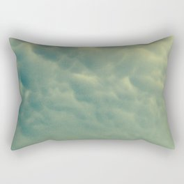 moody bubble clouds Rectangular Pillow