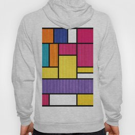 Mondrian Bauhaus Pattern #11 Hoody