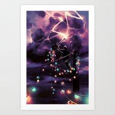 Defy the sky Art Print