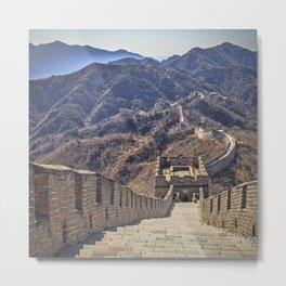 Great Wall of China, Mutianyu Metal Print