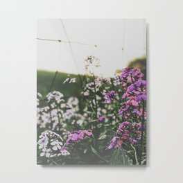 Purple Flowers • Appalachian Trail Metal Print