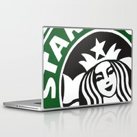 starbucks Laptop & iPad Skins featuring Starbucks Abstract by Tiffany Taimoorazy