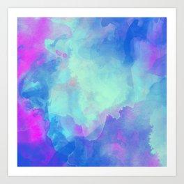 Watercolor abstract art Art Print