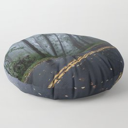 Smoky Mountain Summer Forest IV - National Park Nature Photography Floor Pillow