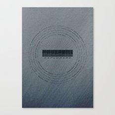 MOON Explorers  - MINIMALIST POSTER Canvas Print