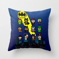Gotham Heroes and Villains Throw Pillow